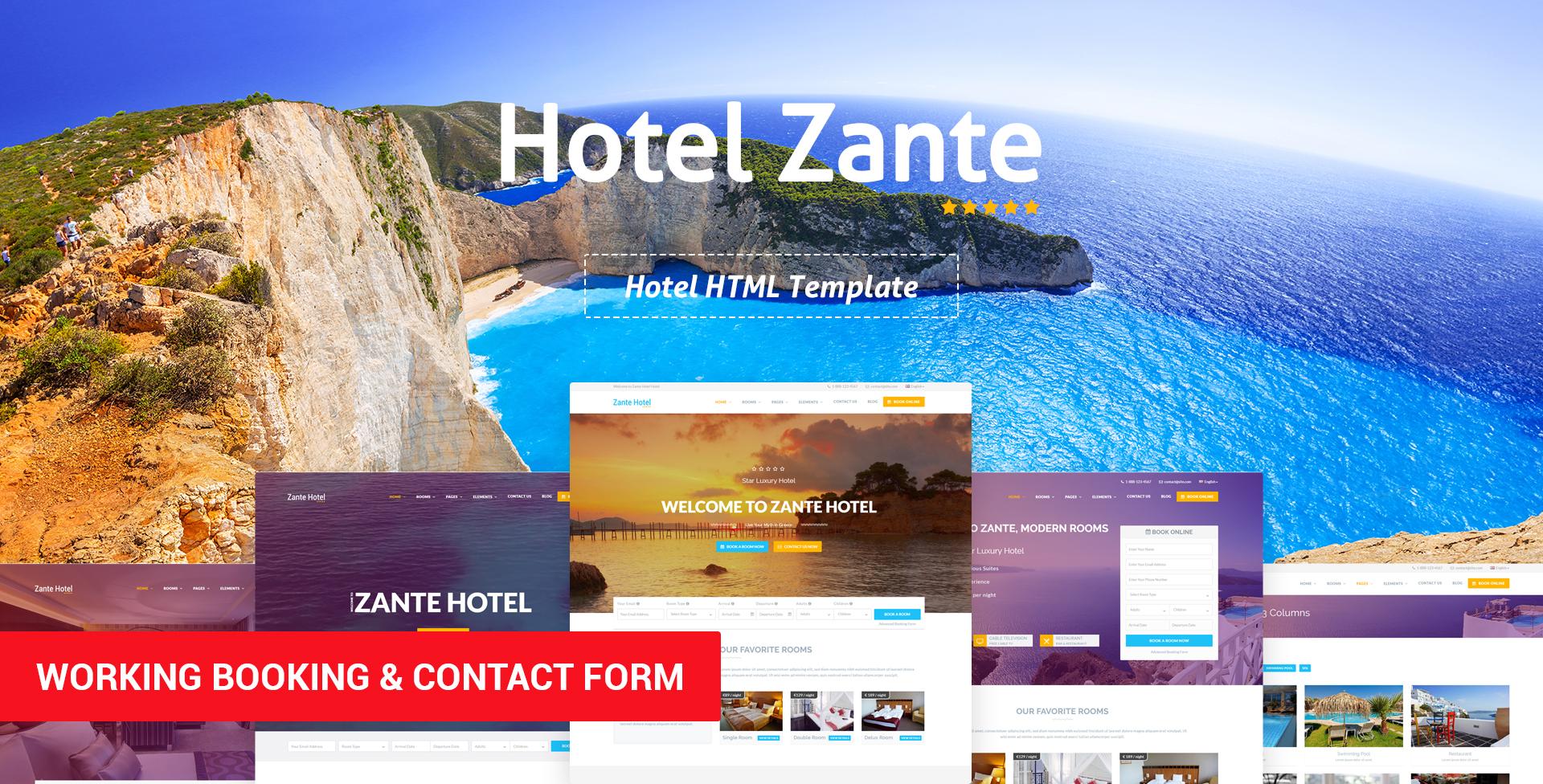 Hotel Zante – Hotel HTML Template