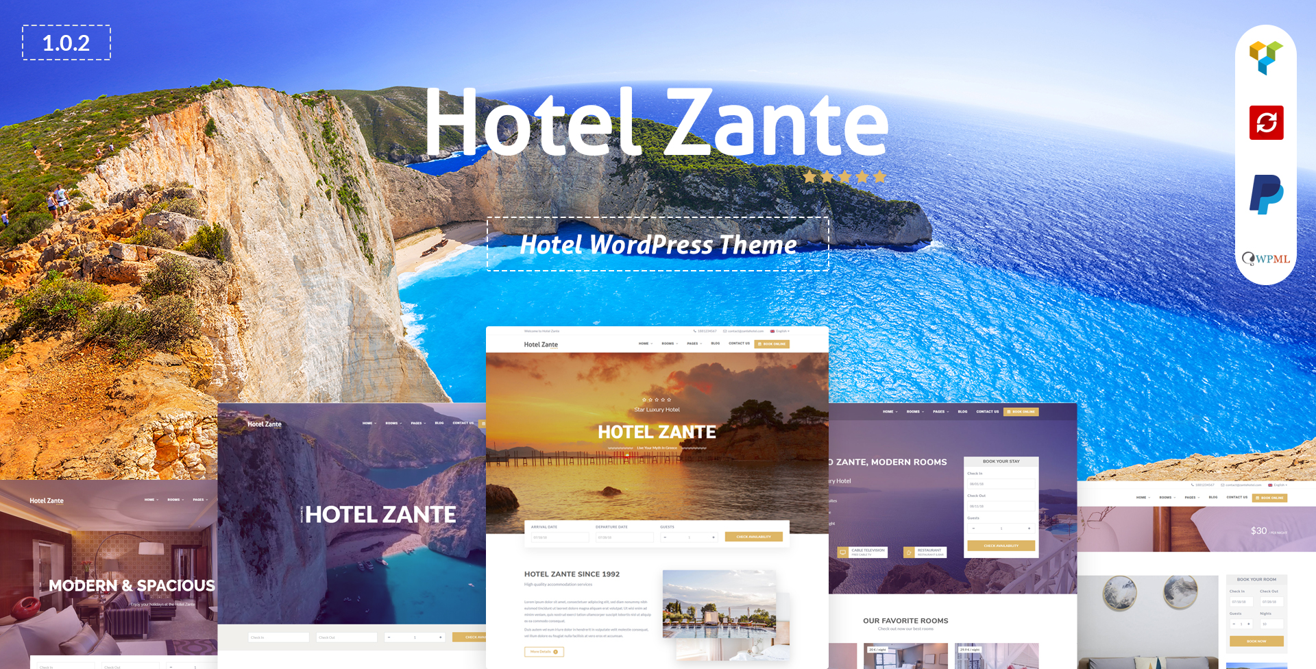 Hotel Zante – Hotel WordPress Theme