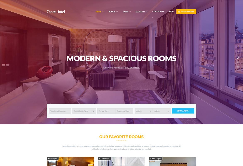 Hotel Zante - Hotel HTML Template